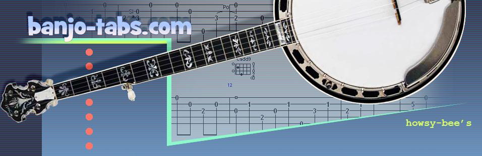 Banjo tablatures, banjo tabs, banjo tab, tablatures 5-string banjo